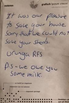 Les pompiers lui laissent une adorable note après avoir sauvé sa maison des flammes