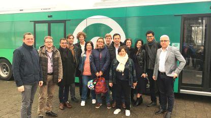 Groen start kiescampgne met een elektrische bus