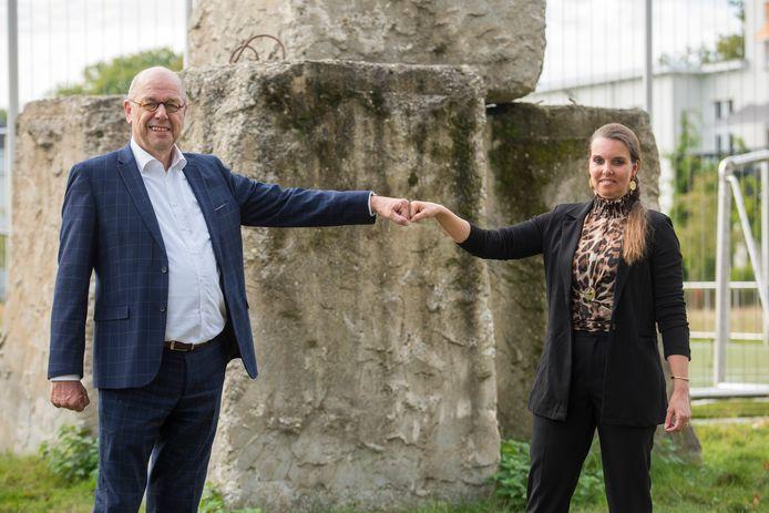 GGzE werkt al jaren met ervaringsdeskundigen. Op de foto: bestuursvoorzitter Joep Verbugt en ervaringsdeskundige Ivonne Heynen.