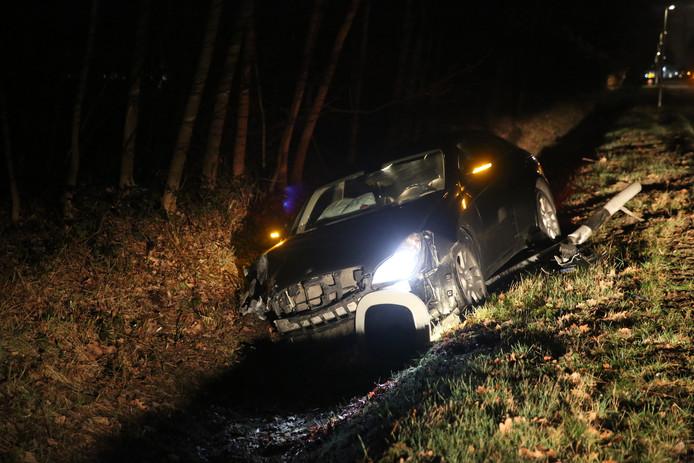 Ongeluk met twee auto's in Hoogerheide.