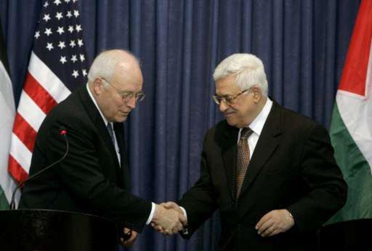 Dick Cheney had onder andere een gesprek met de Palestijnse president Mahmoud Abbas.
