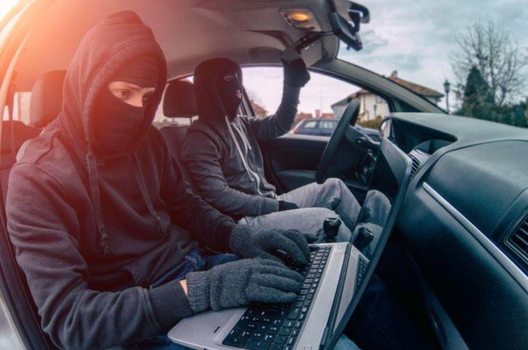 Illustratie. Keyless theft komt voor bij auto's die geopend en gestart kunnen worden via afstandsbediening en waarbij geen sleutel nodig is.