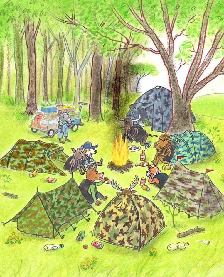 null Beeld illustraties Haas redt het bos Gertie Jaquet