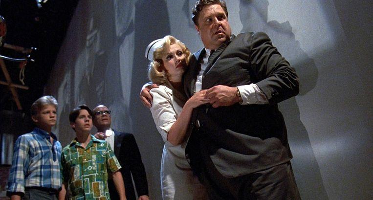 John Goodman zaait paniek in Matinee van Joe Dante, 1993.  Beeld Hollandse Hoogte