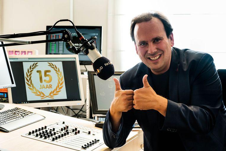 Michel Vanderfeesten vierde deze zomer nog het vijftienjarig bestaan van FM Goud.
