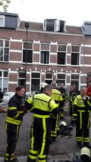 Cartier van Disselstraat, rond 19.00 uur wordt het sein brand meester gegeven