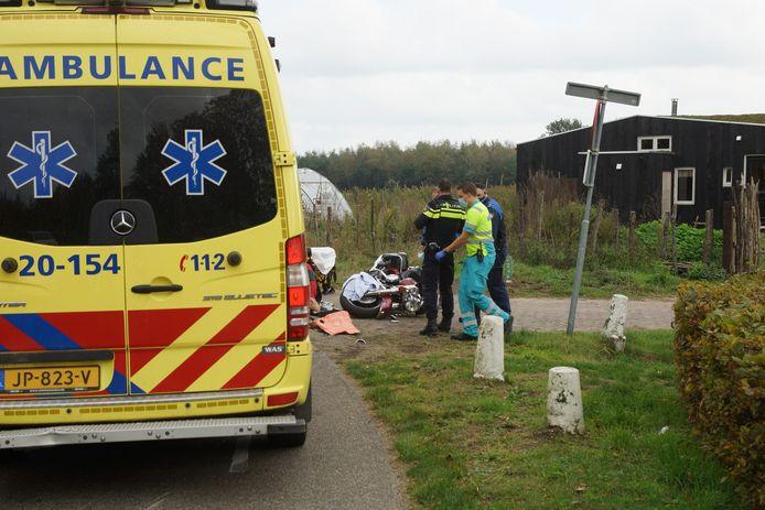 Motorrijder gewond na ongeluk bij Loon op Zand.