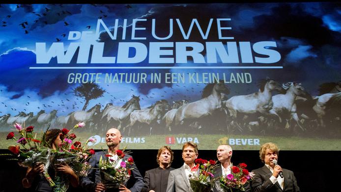 De filmmakers van De nieuwe wildernis na afloop van de première.