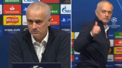 """Mourinho ergert zich aan journalist na nederlaag tegen Leipzig: """"Goede vraag, vriend"""""""