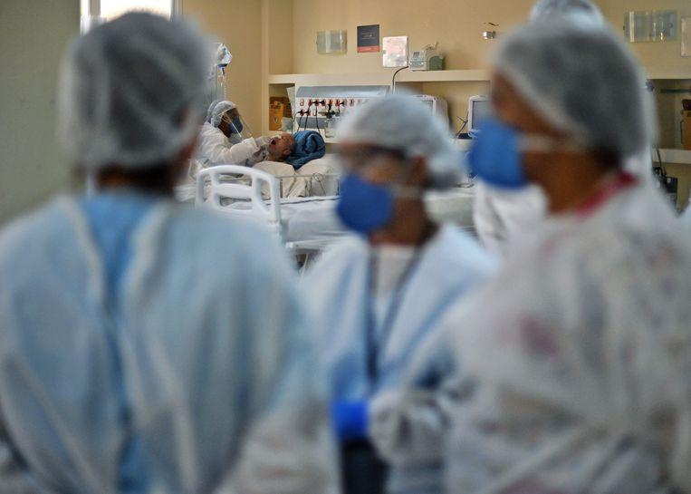 Beeld uit een ziekenhuis in Rio de Janeiro.