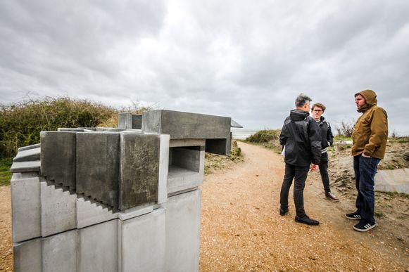 Langs het parcours staan ook verschillende betonnen maquettes.