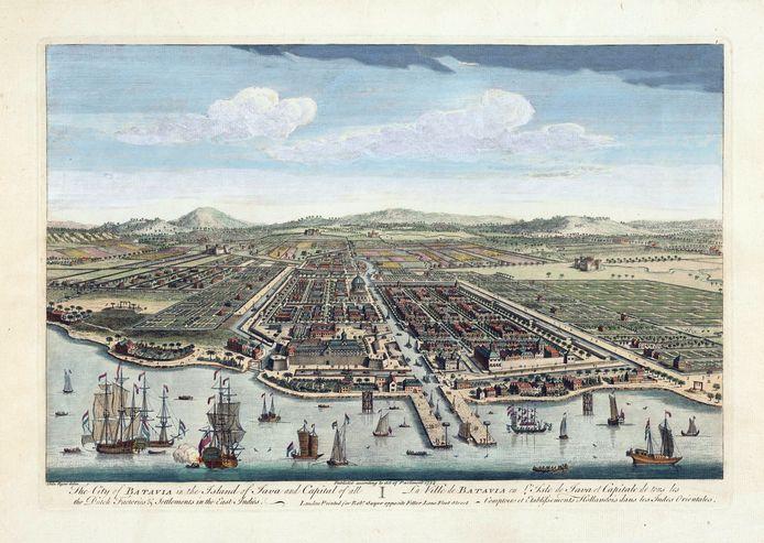 Batavia op het eiland Java. Beeld uit boek 'The Dutch Overseas Empire, 1600-1800.