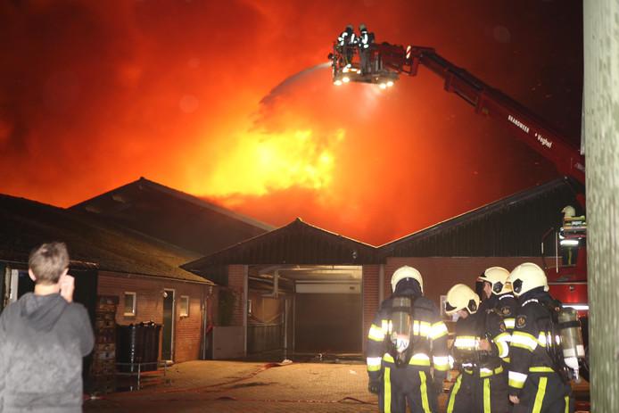 De brand in Heeswijk-Dinther.