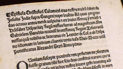 VS geven gestolen brief van Columbus terug aan Vaticaan