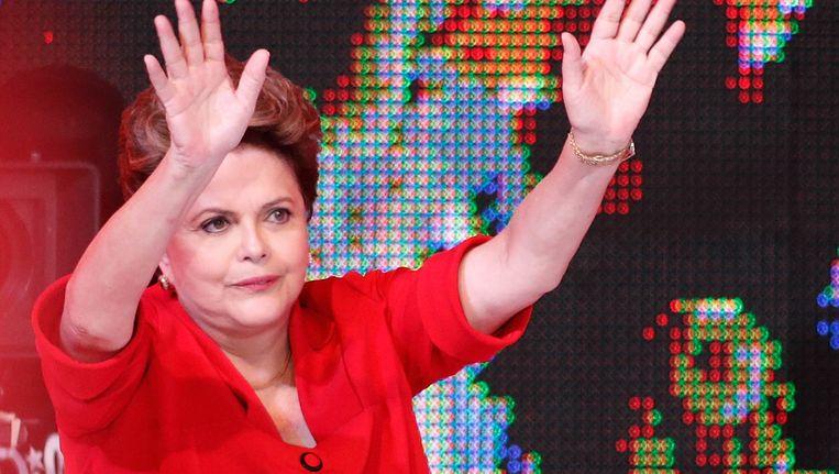 De Braziliaanse presidente Dilma Rousseff. Beeld ap