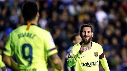 Messi dirigeert Barça met hattrick en assist naar ruime zege bij Levante