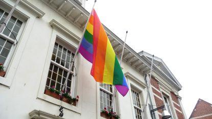 Gemeente hangt regenboogvlag uit en steekt krant in regenboogkleuren
