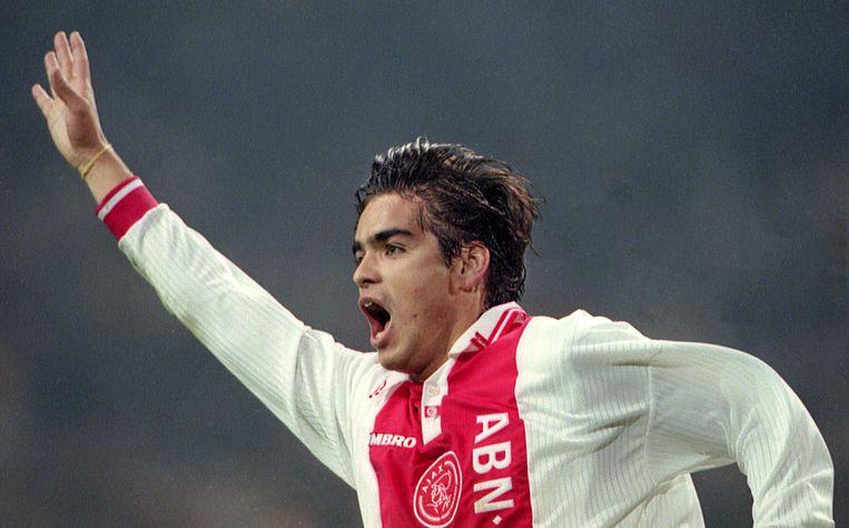 Na een doelpunt tegen Udineze, 21 oktober 1997. Beeld Guus Dubbelman