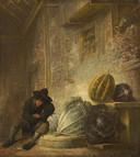 Francois Ryckhals boereninterieur met slapende jongen - collectie Mauritshuis Den Haag