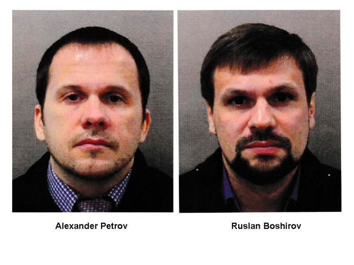 Volgens de Britse justitie hebben Alexander Petrov en Ruslan Boshirov geprobeerd Sergej Skripal en zijn dochter te vermoorden.