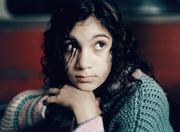 Lina Leandersson in Let the Right One in. Beeld