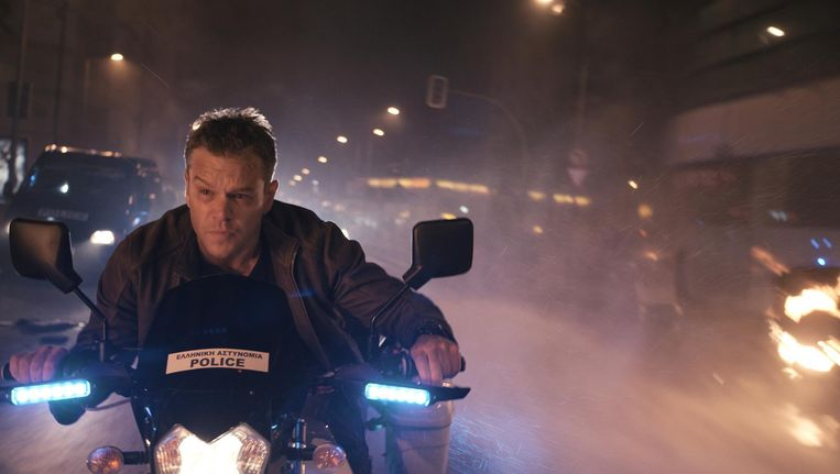 Matt Damon in Jason Bourne. Beeld