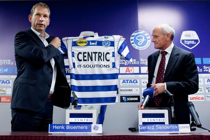 Gerard Sanderink was met tussenpozen drie periodes shirtsponsor met Centric bij De Graafschap. Hij verdween met slaande deuren uit Doetinchem.