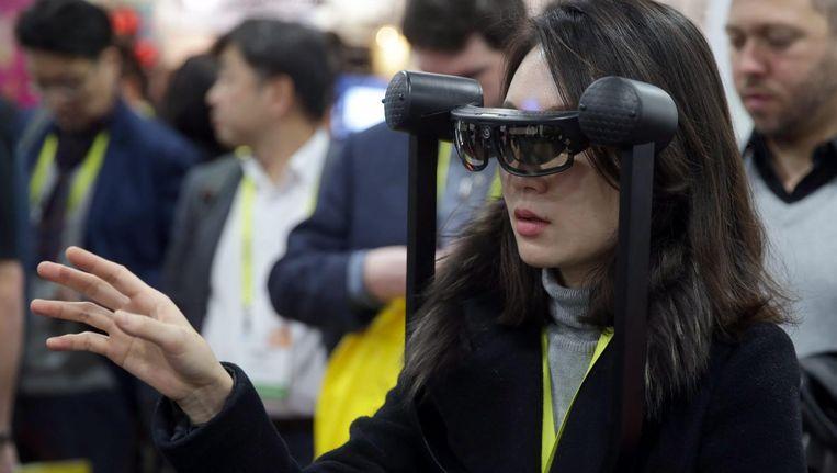 Tijdens CES wordt de nieuwste technologie gepresenteerd. Beeld epa