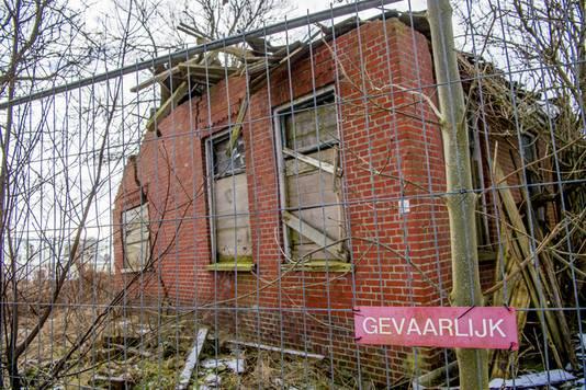 Een woning in de provincie Groningen met schade door een aardbeving