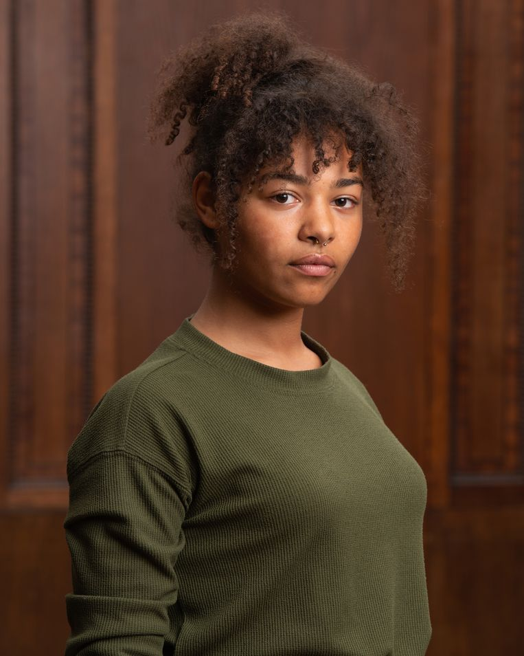 Alidtcha Binazon (21): 'Ik weet zeker dat we hier sterker uitkomen.' Beeld Michiel Van Nieuwkerk