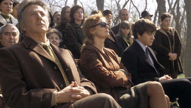 Dustin Hoffman, Susan Sarandon en Jake Gyllenhaal in Moonlight Mile. Beeld