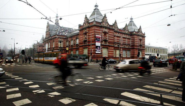 Het Stedelijk Museum Amsterdam gezien vanaf de hoek van de Willemsparkweg en de van Baarlestraat Beeld ANP