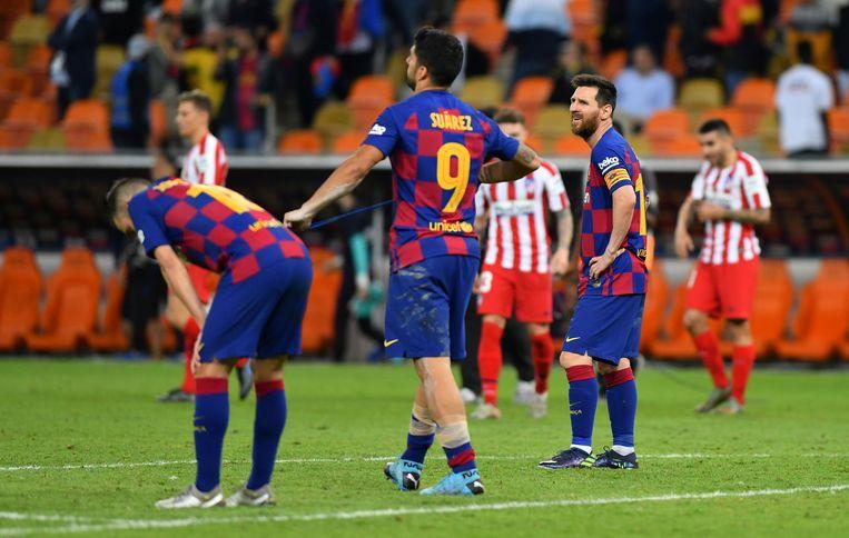 Suárez en Messi blijven vertwijfeld achter. Hoe is dit kunnen gebeuren?