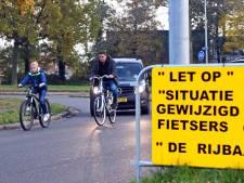 Fietspad in Terneuzen 'levensgevaarlijk' ingekort, bewoner stomverbaasd: Ook wegwerkers begrepen er niks van
