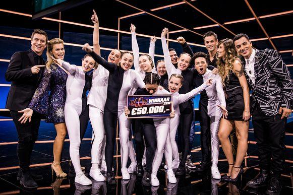 Dance As One, seizoen 1, aflevering 8, finale, op woensdag 19 december 2018 bij VTM. Op de foto: Oxygen wint Dance As One.