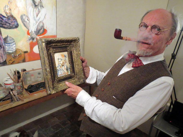 Martin Wallaert schilderde zijn eigen doodsprentje.