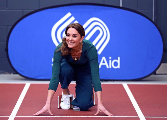 Kate Middleton durant l'événement SportsAid à Londres.