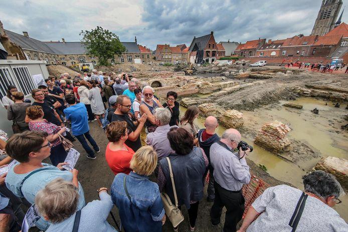 De site De Meersen in Ieper, waar heel wat vondsten werden gedaan die te bezichtigen zijn in de tentoonstelling 'Graven in de stad'.