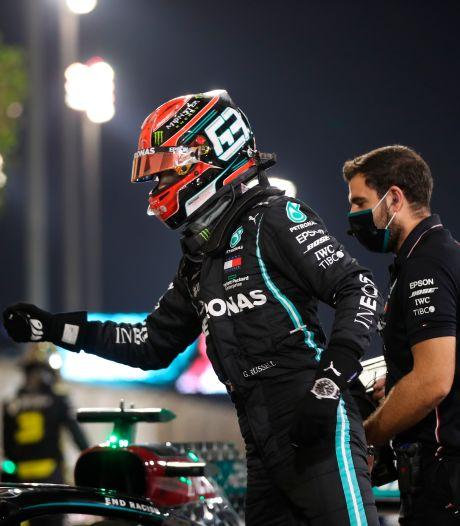 Russell geniet in Mercedes: 'Lewis vroeg of ik goed voor z'n auto wilde zorgen'