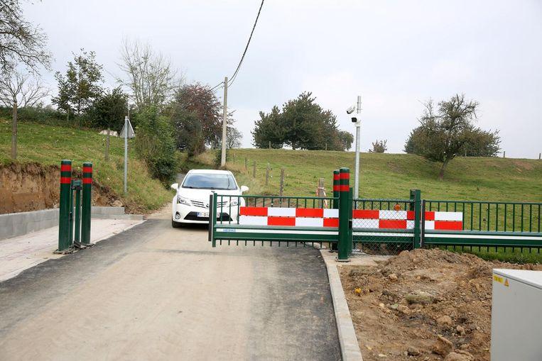 De dynamische verkeerssluis op de Puttenberg toen die eind oktober 2016 werd getest bij de ingebruikname.