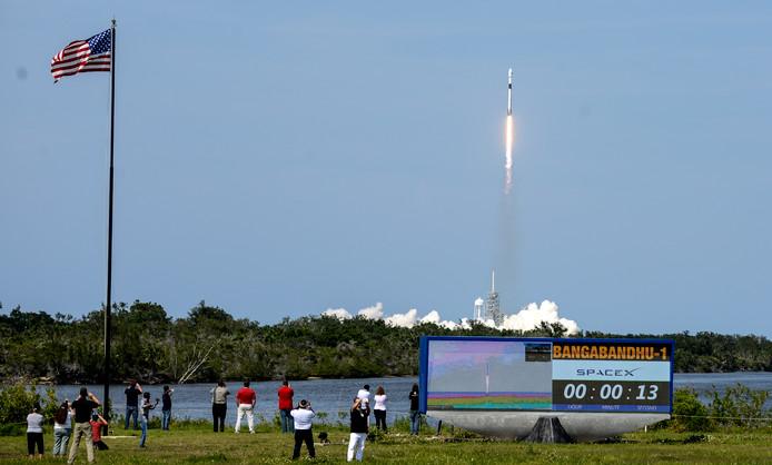 De raket werd gelanceerd in Florida.