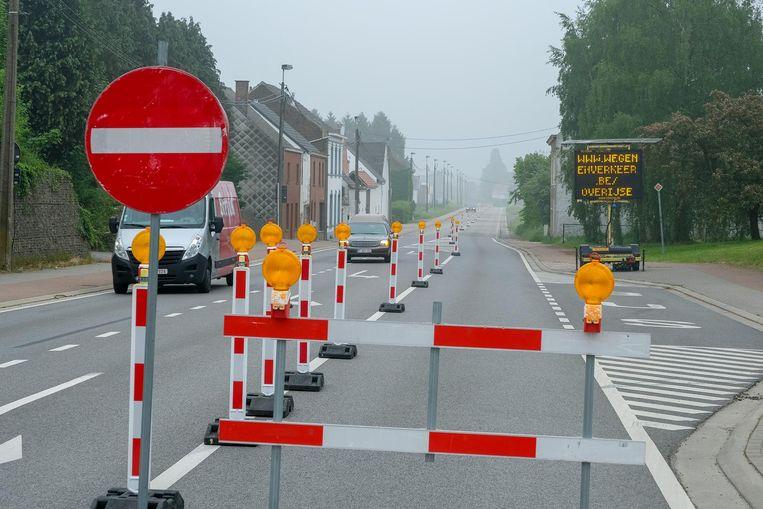Illustratiefoto van werken aan de weg.