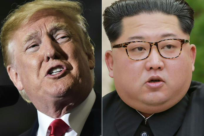 Amerikaanse president Donald Trump en Noord-Koreaanse leider Kim Jong-un