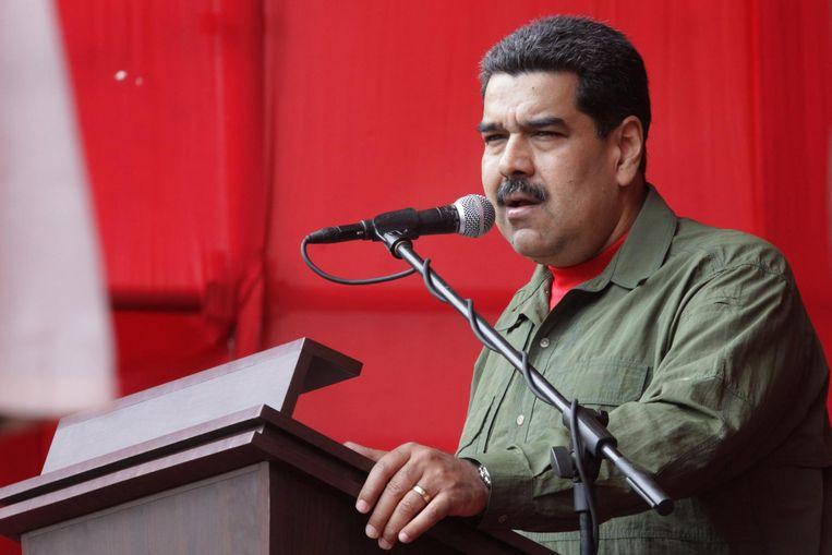 De Venezolaanse president Nicolás Maduro Beeld epa
