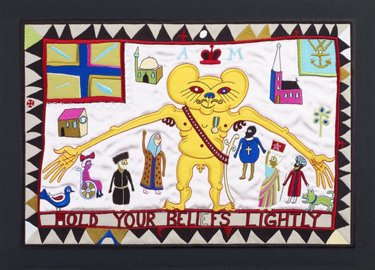 Hold Your Beliefs Lightly (2011). Beeld Grayson Perry