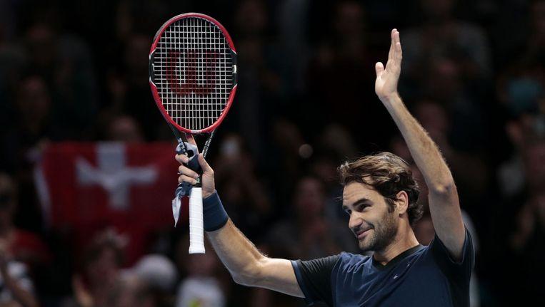 Roger Federer bereikt de finale van de World Tour Finals. Beeld photo_news