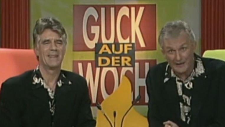 Een fragment uit de jaarlijkse Boekenweek thema-uitzending van Van Kooten en De Bie. Beeld VPRO