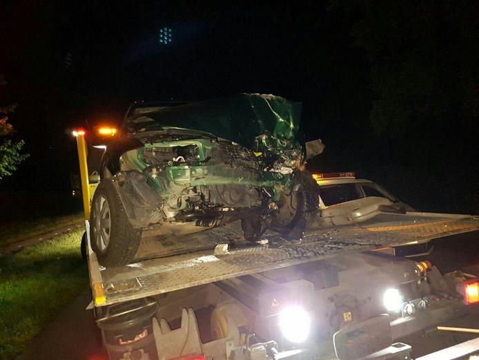 Automobilist gewond na eenzijdig ongeluk in Geesteren.