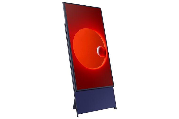 De Samsung Sero, een nieuwe televisie met een verticale stand. Beeld null