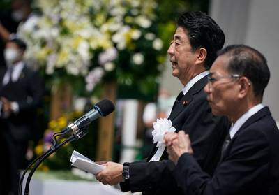 Zelfde speech voor twee herdenkingen: Japanse premier onder vuur